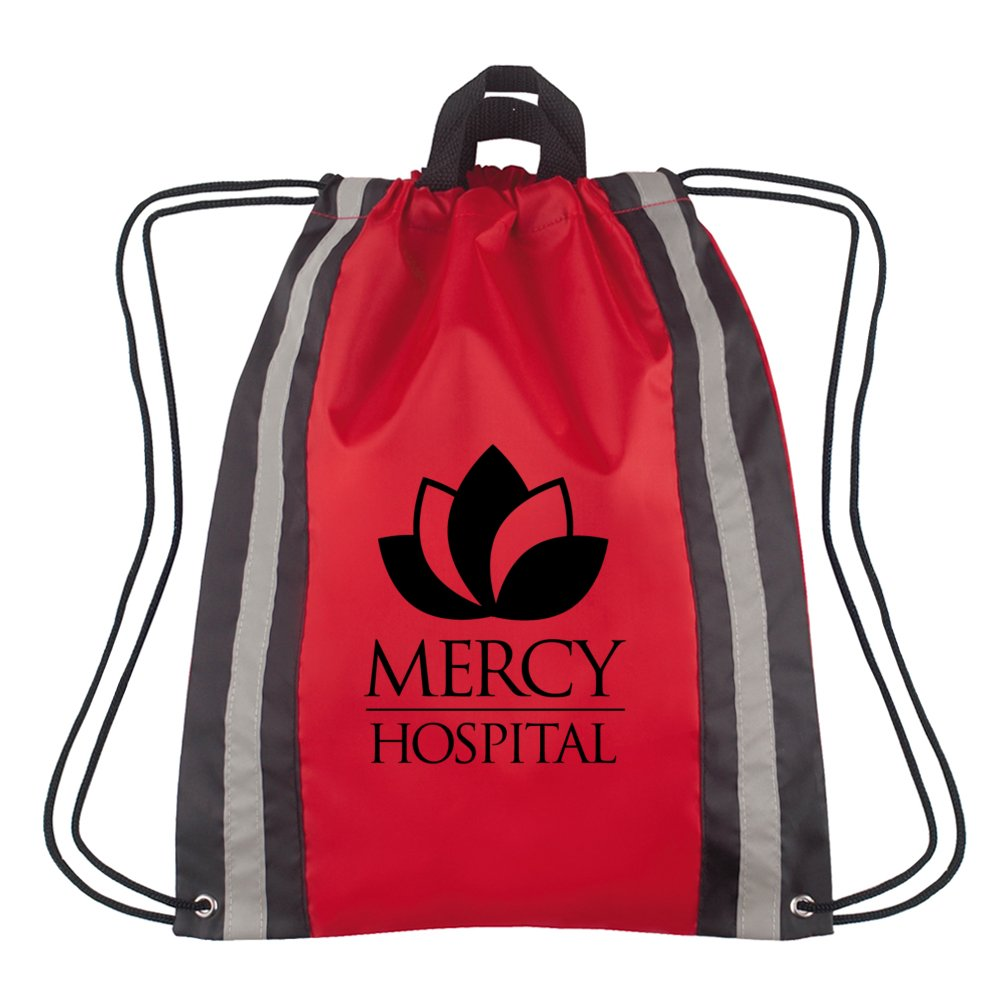 Reflective Safety Drawstring Backpack