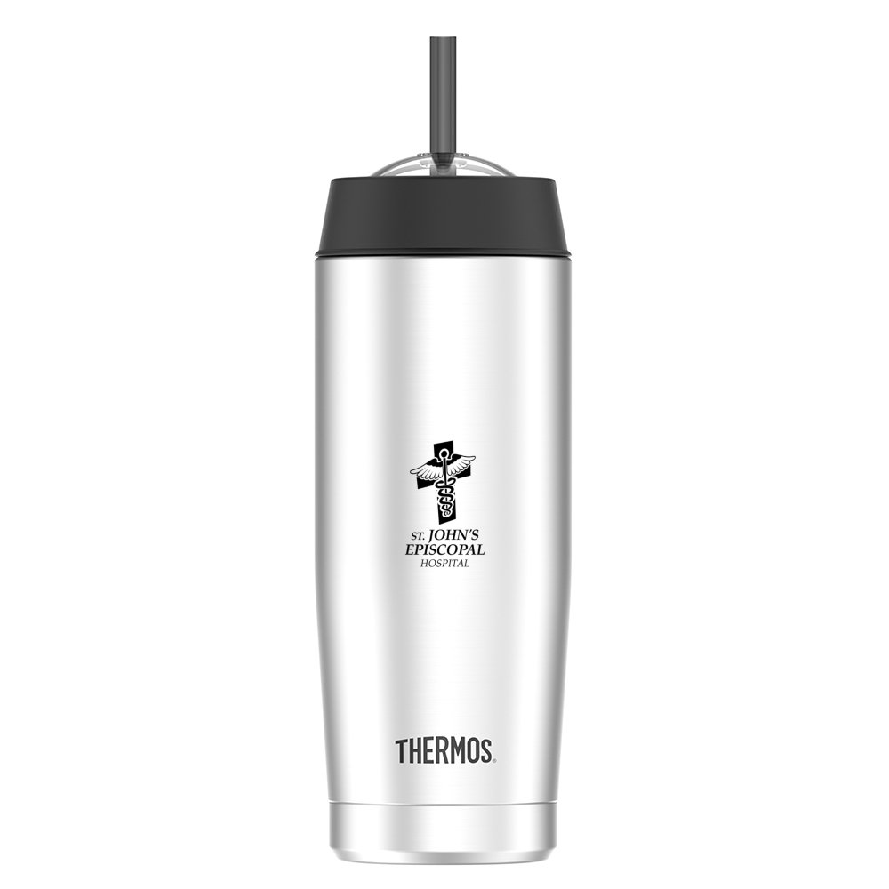 Thermos Cold Cup with Straw