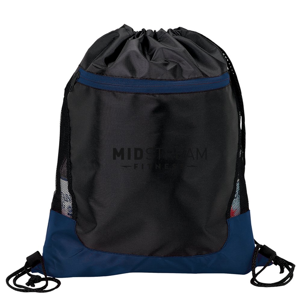 Side Mesh Drawstring Backpack