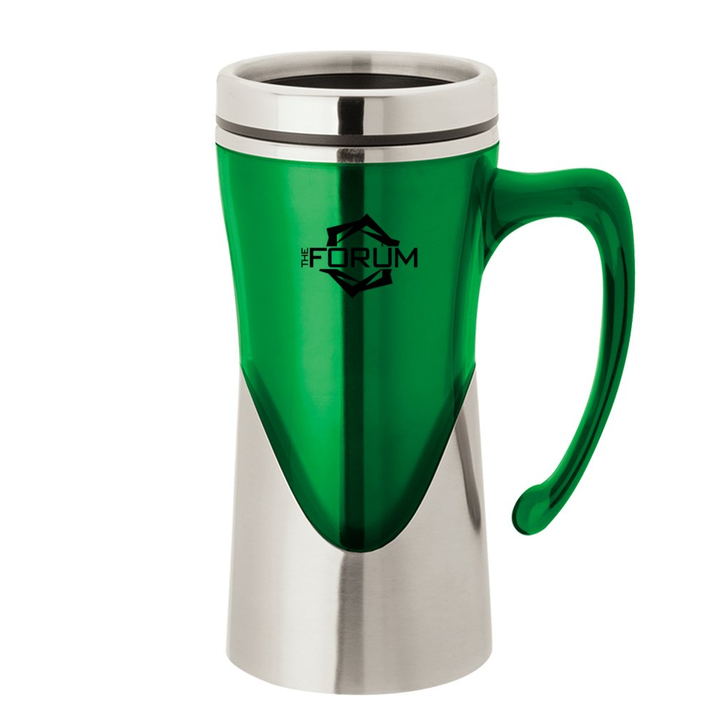 Stainless Steel Accent Travel Mug