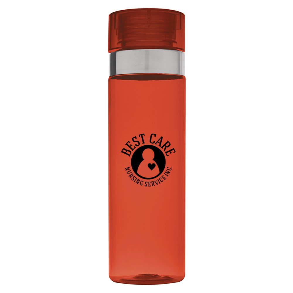 Metal Accent Water Bottle