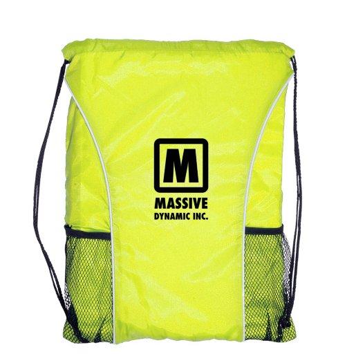 Double Mesh Pocket Drawstring Backpack
