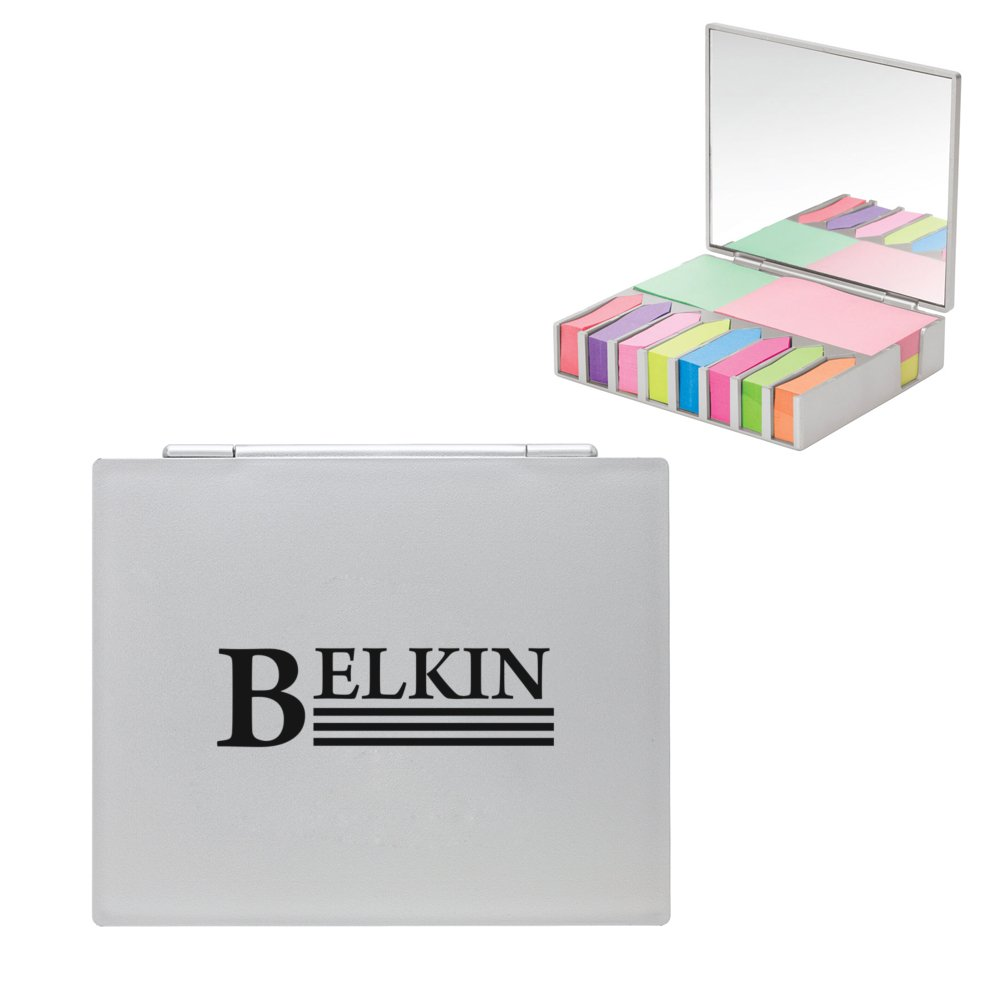 Flip Top Sticky Note Holder with Mirror