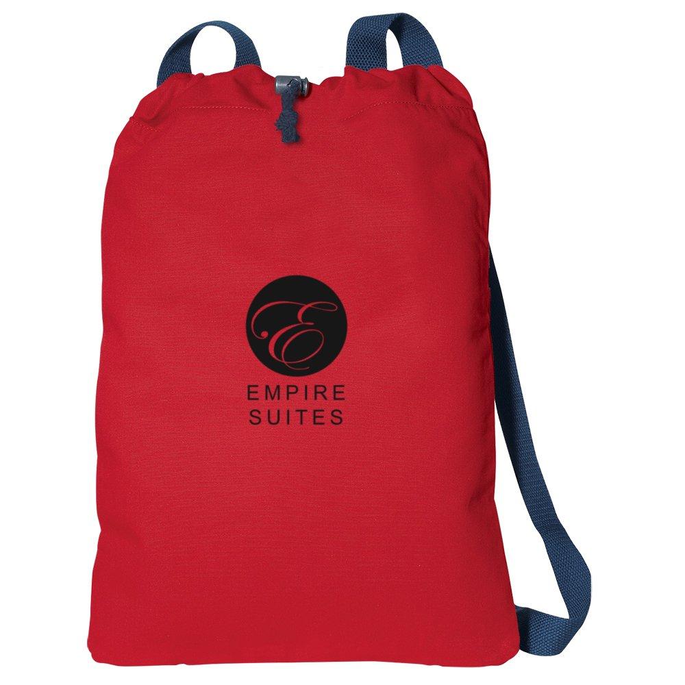 Canvas Drawstring Backpack