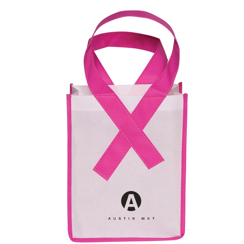 Small Pink Ribbon Awareness Bag