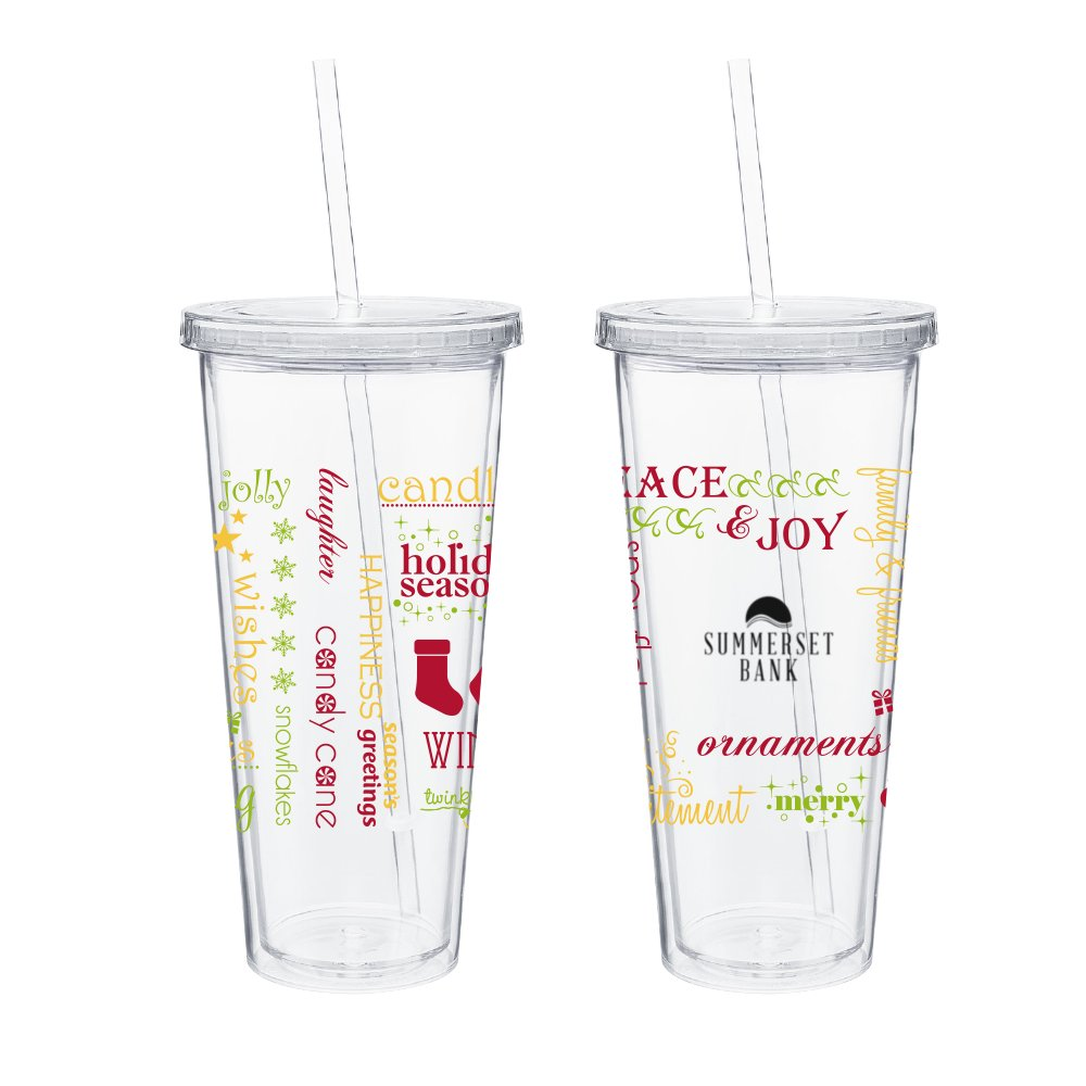 Peace & Joy Holiday Tumbler