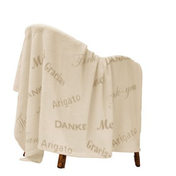 Embroidered Thank You Blanket