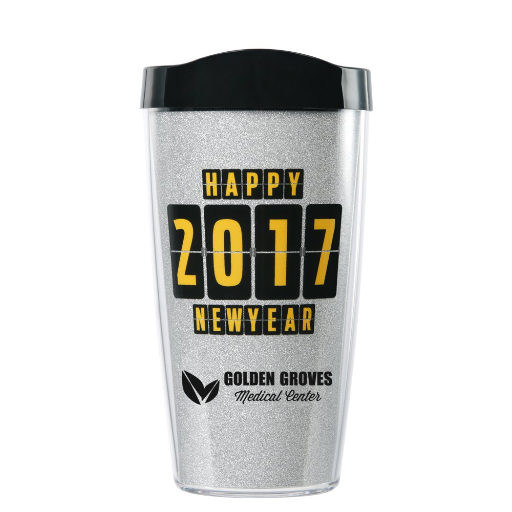 2017 New Year Celebration Glitter Tumbler