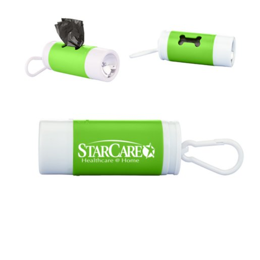 Dog Waste Disposable Bags with Flashlight