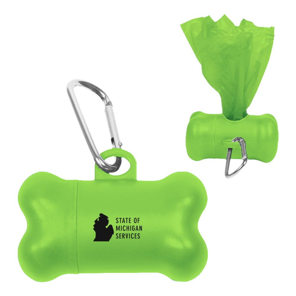 Dog Waste Disposable Bags Bone Shaped Dispenser