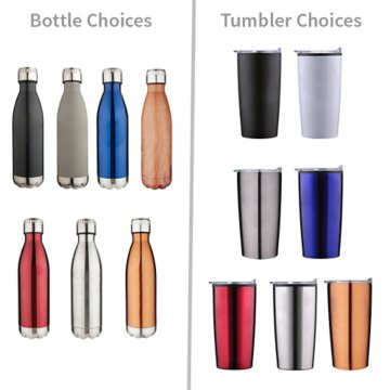 Fully Customizable Tumbler and Water Bottle Gift Set