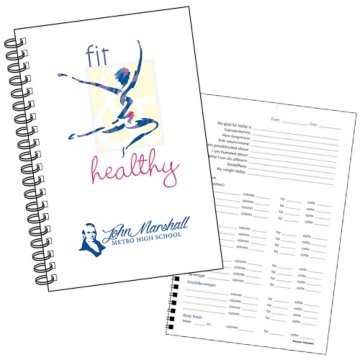 Food and Fitness Journal Book
