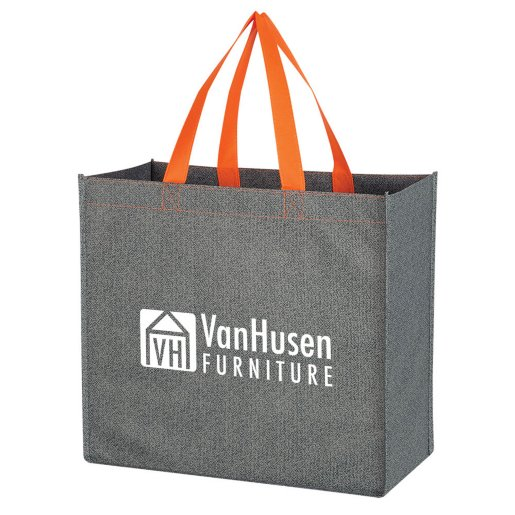 Colored Handle Shopper Tote