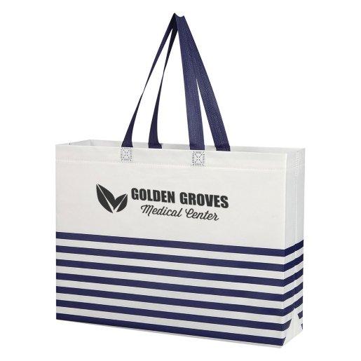 Nautical Stripe Tote Bag