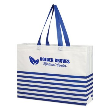 Nautical Stripe Tote Bag