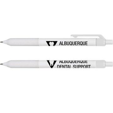Sleek Soft Grip Pen - White