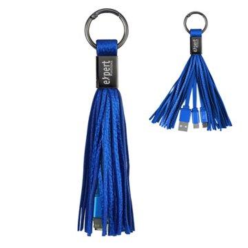 2-in-1 Charging Tassel Key Chain