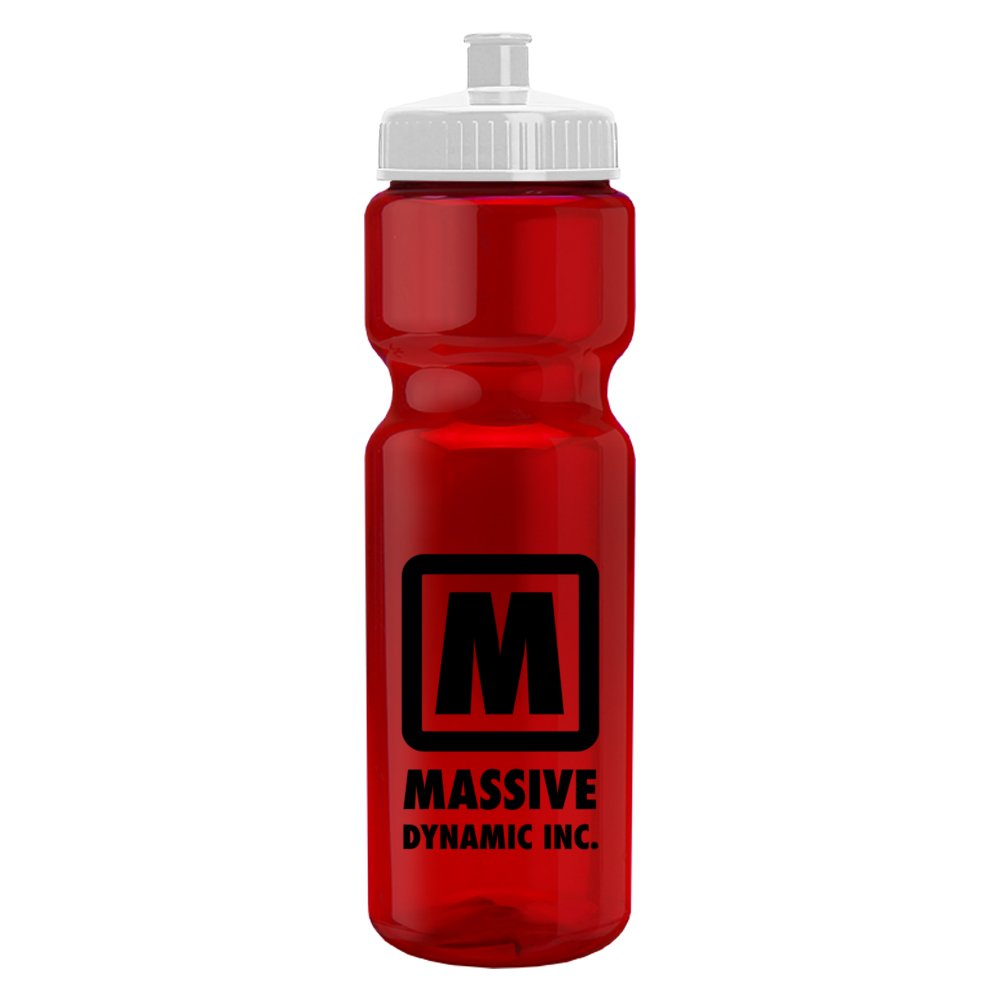 Translucent Sports Water Bottle with Push/Pull Cap