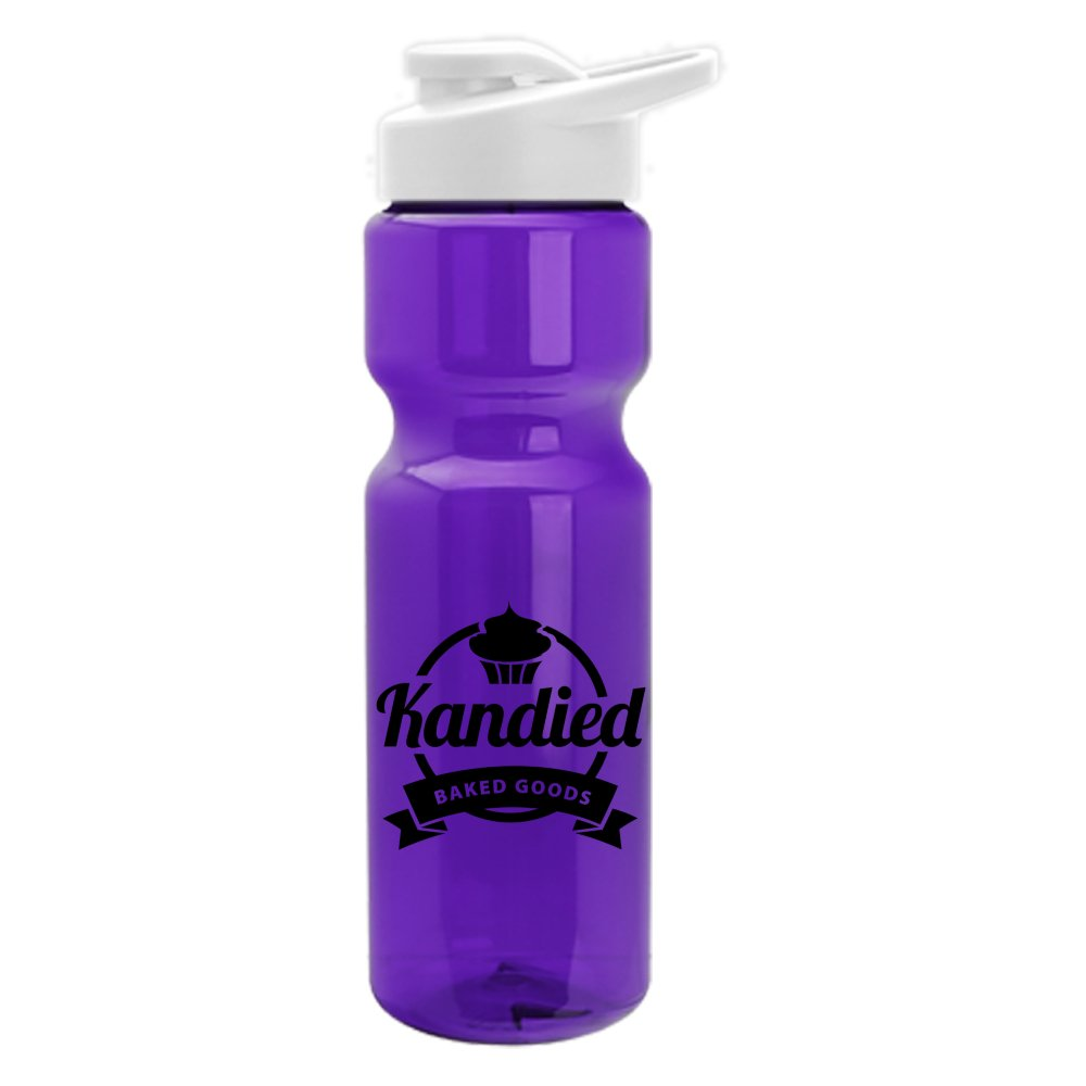 Translucent Sports Water Bottle with Drink-Through Lid