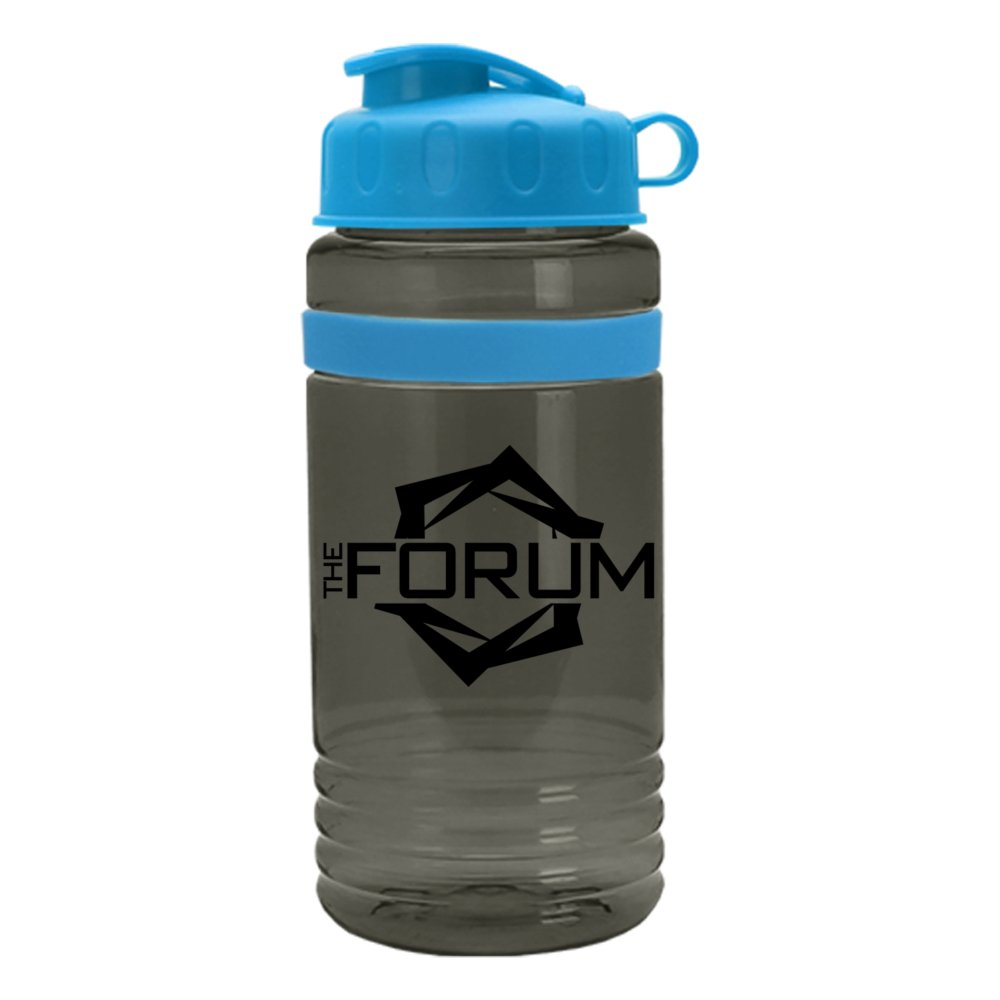 Color Stripe Water Bottle with Tethered Lid
