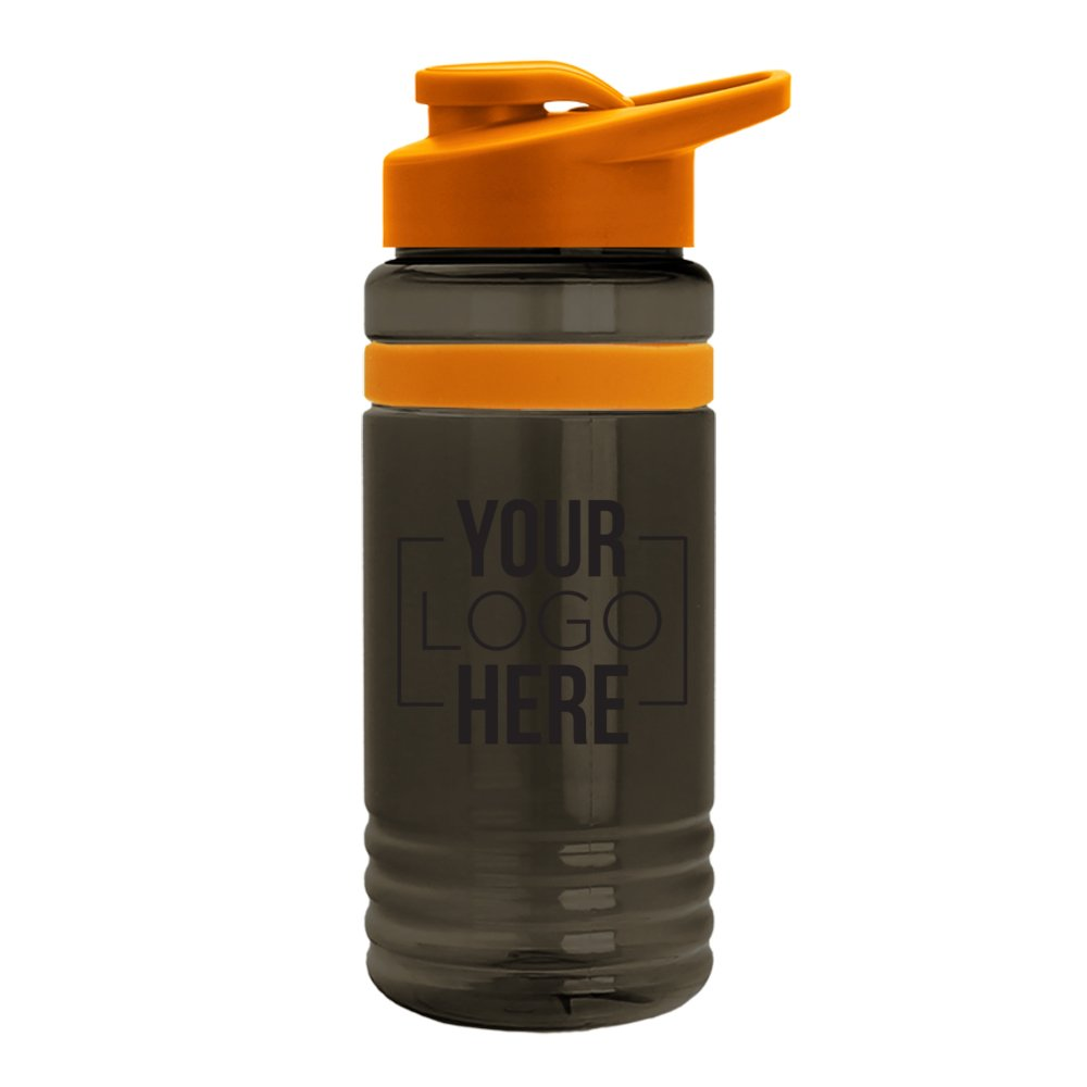 Color Stripe Water Bottle with Flip-Top Lid
