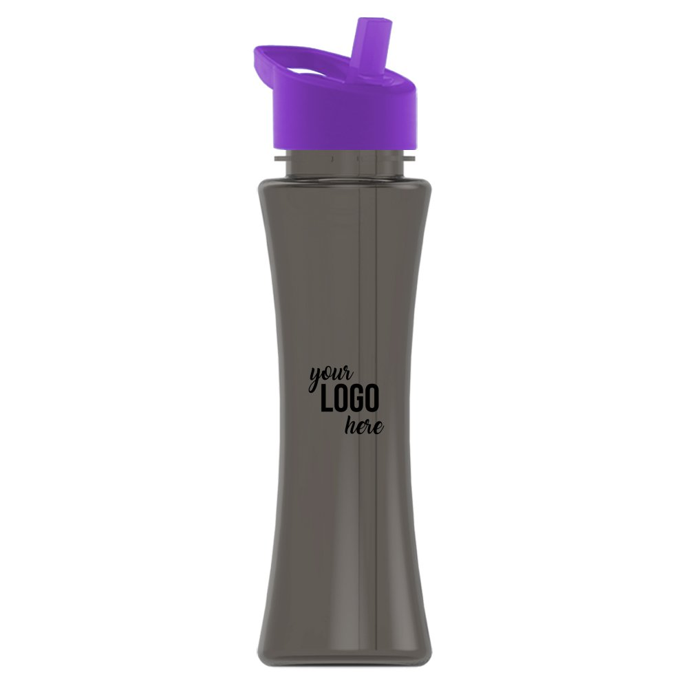 Hourglass Water Bottle with Flip-Straw Lid