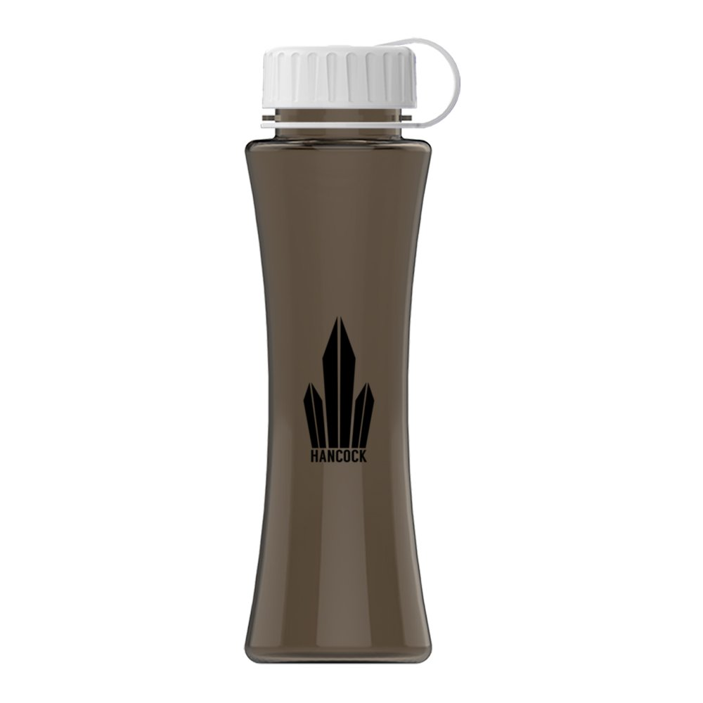 Hourglass Water Bottle with Tethered Lid