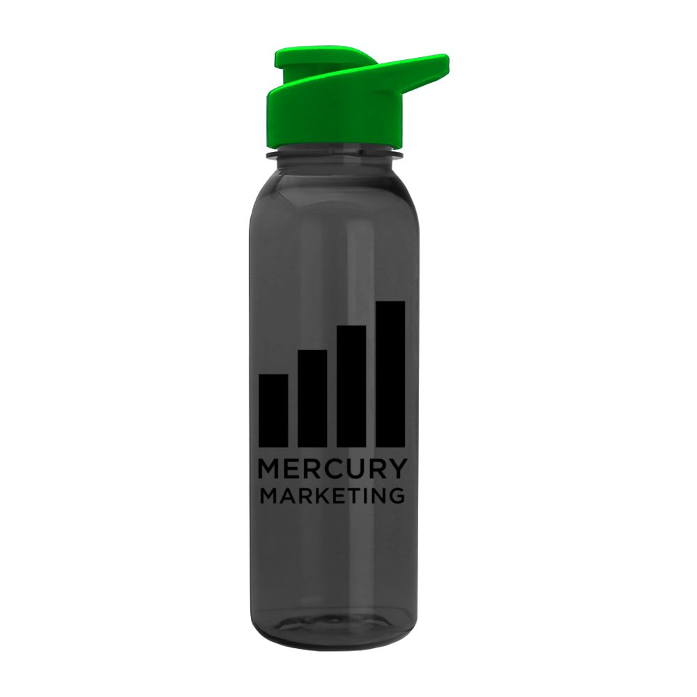 Round Top Sports Water Bottle with Flip-Top Lid
