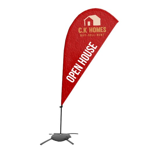 6.5' Value Tear Drop Sail Sign