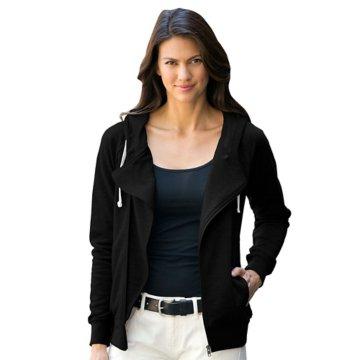 Women's Hooded Diagonal Zip Jacket