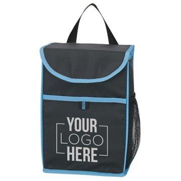 Neon Accent Lunch Bag