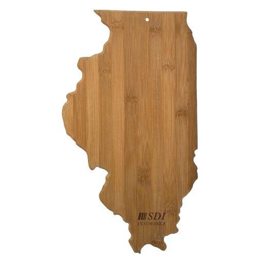 Illinois Bamboo Cutting Board