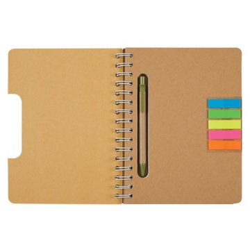 Cutout Notebook with Sticky Flags