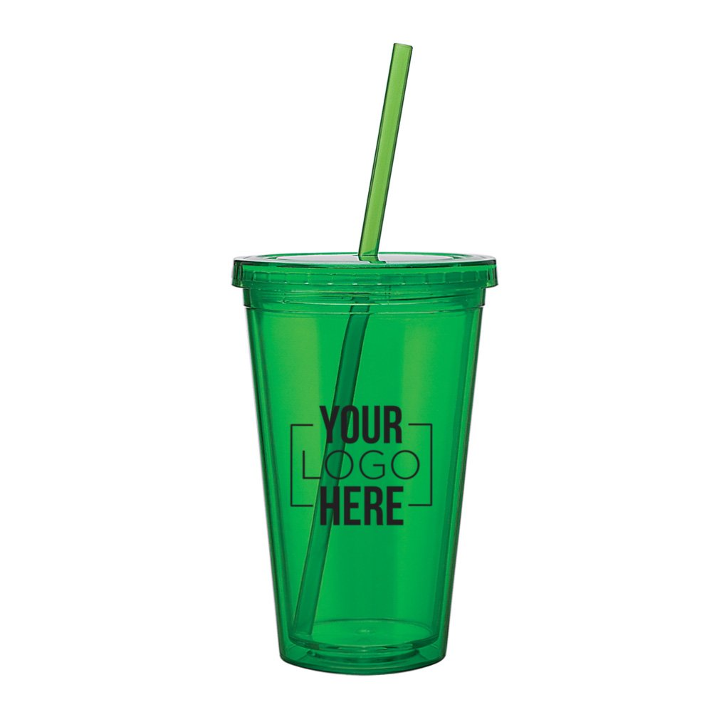 Solid Color Spirit Acrylic Tumbler