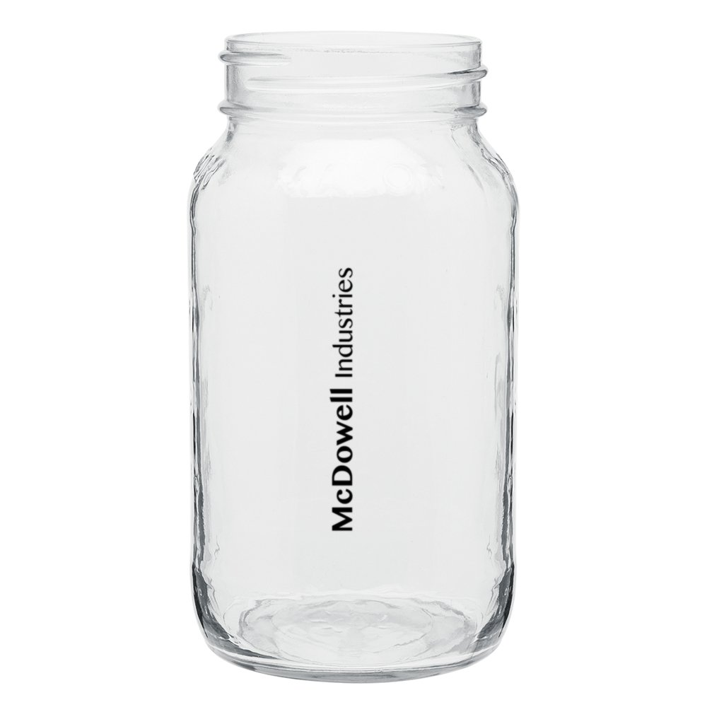 Squared Mason Jar Drinking Glass