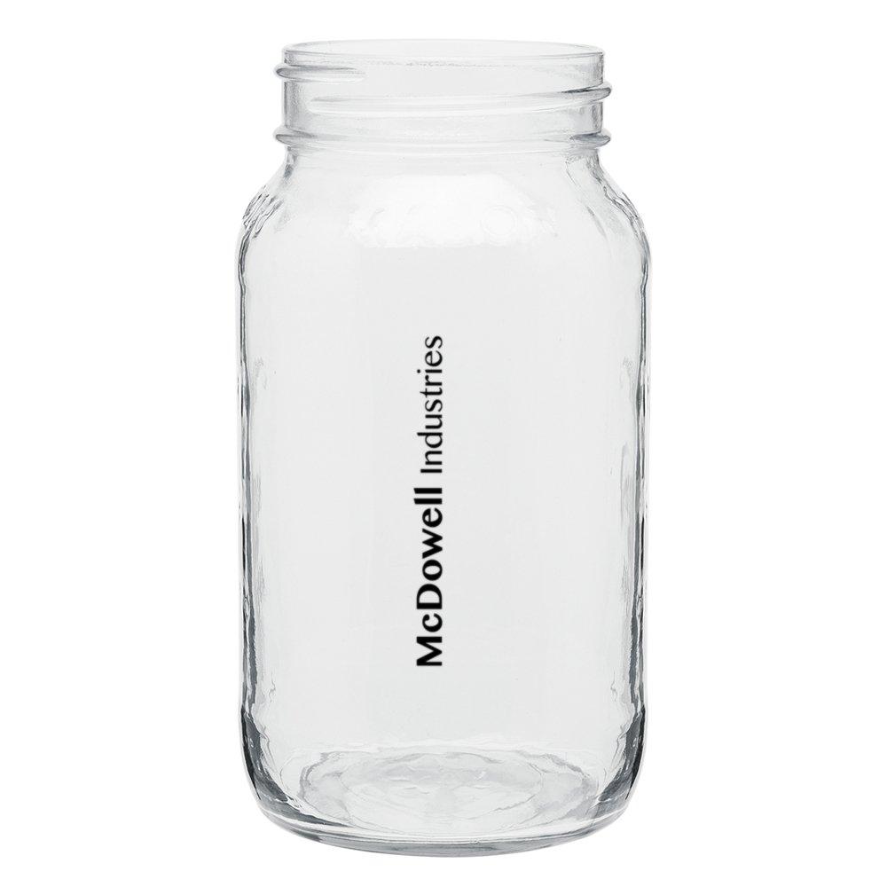 Squared Mason Jar Drinking Glass