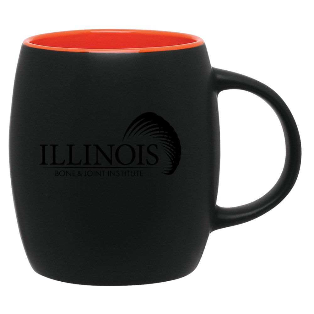Round Color Pop Coffee Mug - Matte Black