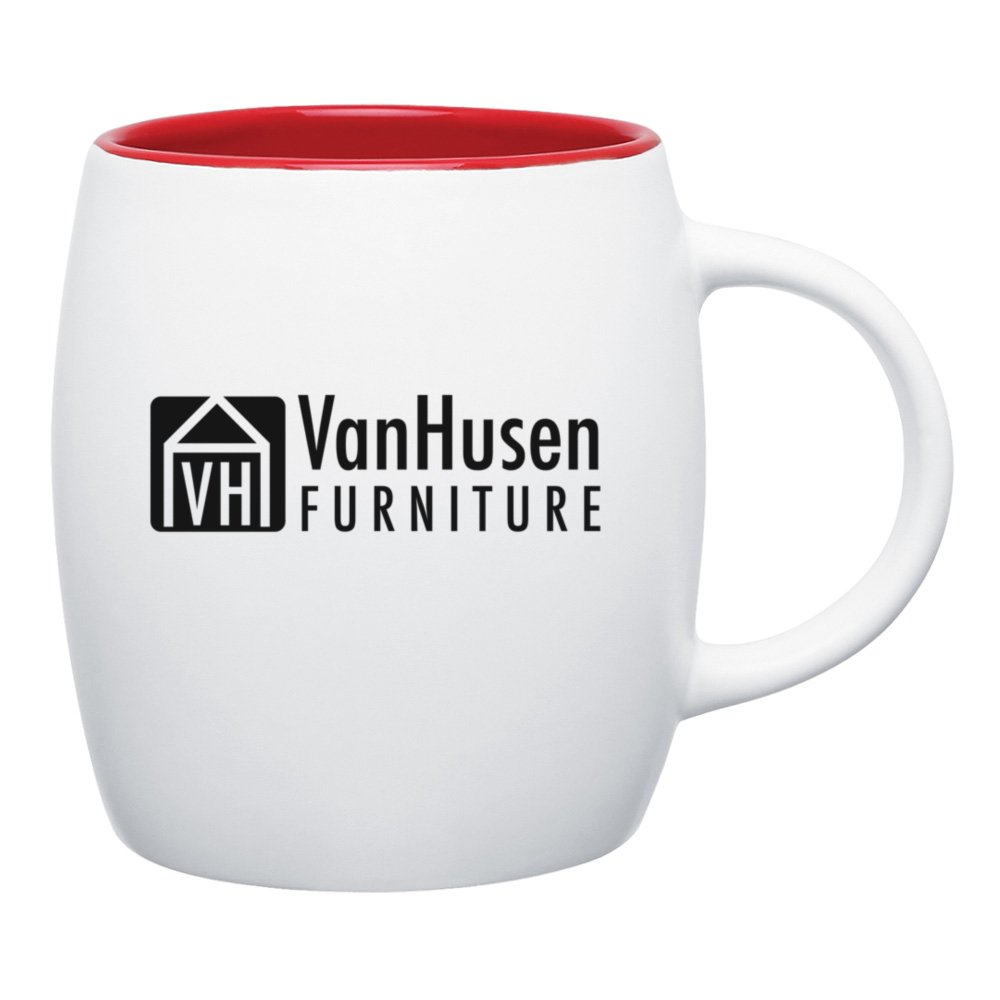 Round Color Pop Coffee Mug - Matte White