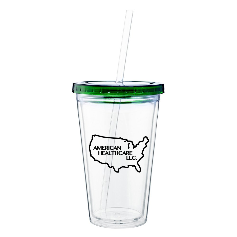Spirit Acrylic Tumbler with Colored Lid - 16 oz.
