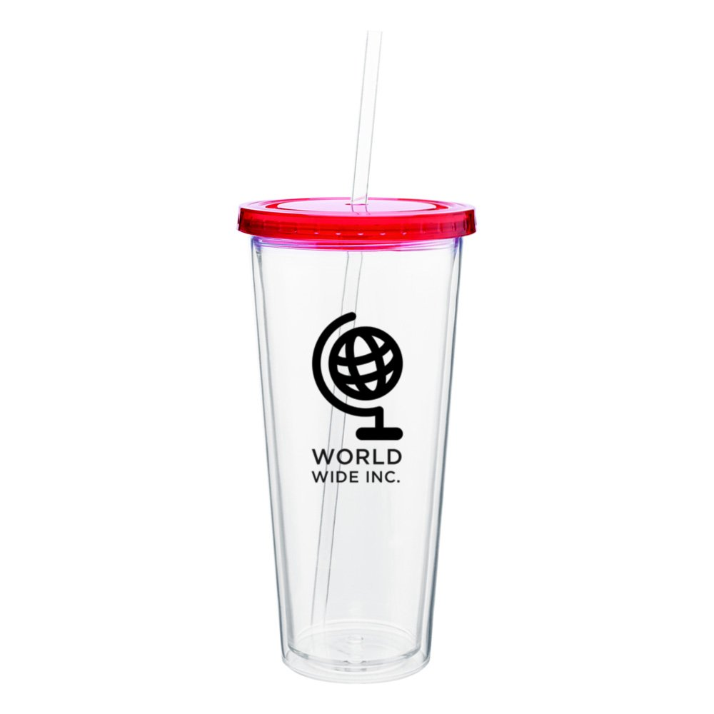 Spirit Acrylic Tumbler with Colored Lid - 20 oz.