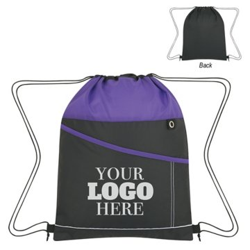 Color Streak Drawstring Backpack