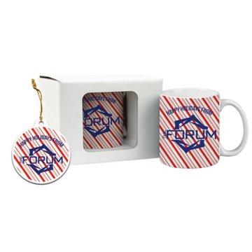 Full Color Ceramic Mug & Ornament Gift Set