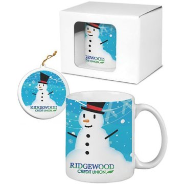 Full Color Ceramic Mug & Ornament Gift Set