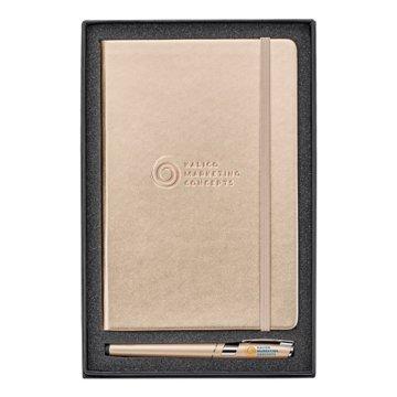 Metallic Journal and Pen Gift Set