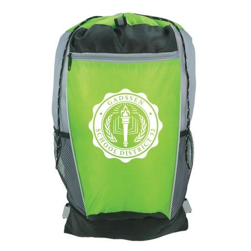 Adjustable Strap Tri-Color Drawstring Backpack