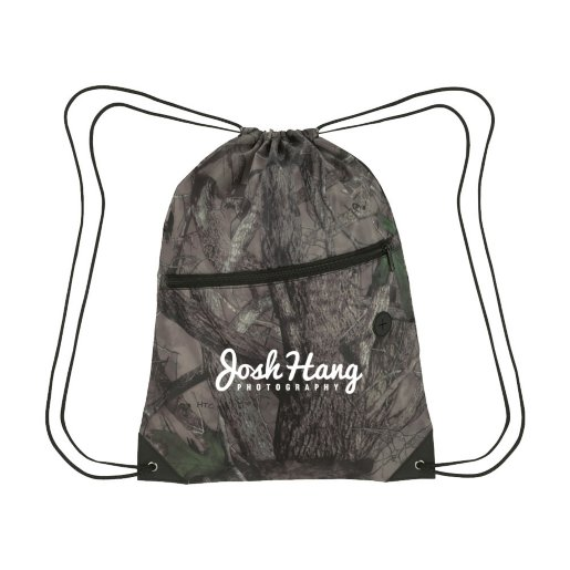 True Timber® Drawstring Backpack With Front Zipper