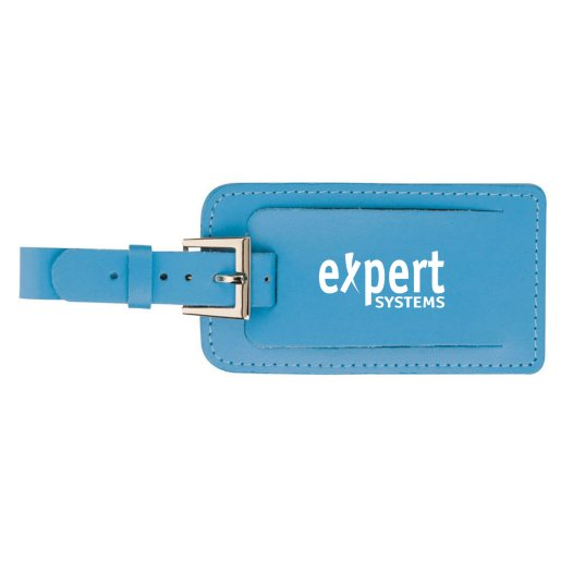 Vivid Leather Luggage Tag