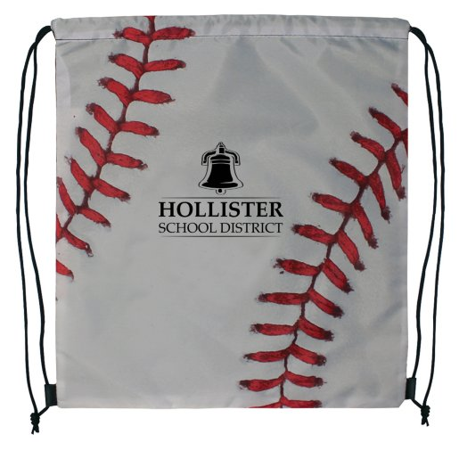 Sport Themed Drawstring Backpack - Baseball