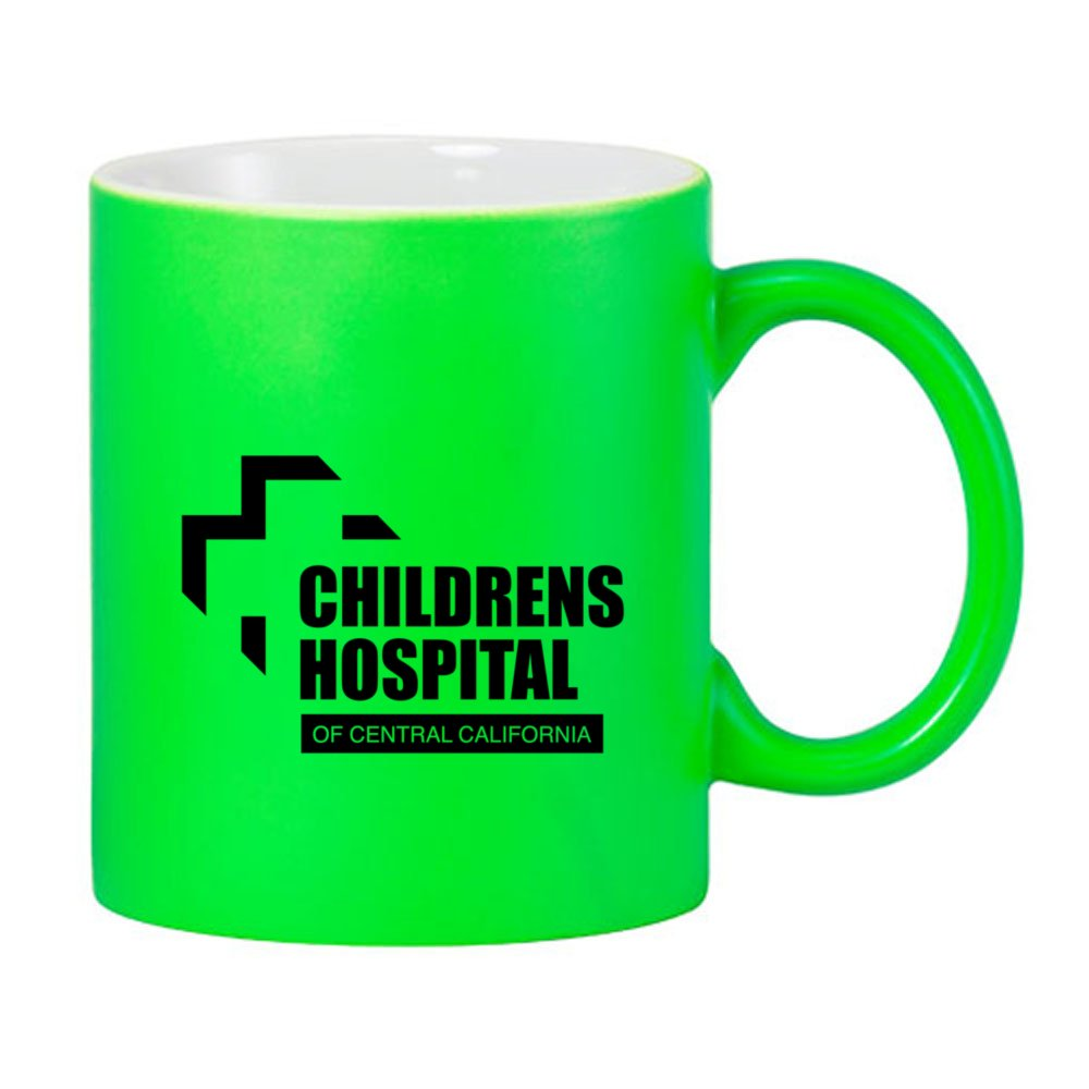 Matte Finish Flourescent Ceramic Mug