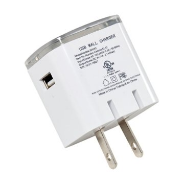 UL Listed USB Dual AC Adapter